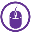 A computer mouse icon