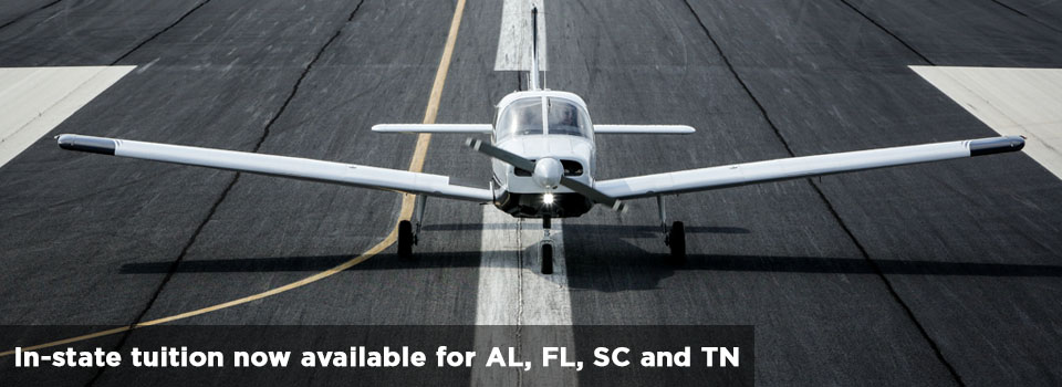 In-state tuition for AL, FL, SC, and TN residences for the MGA School of Aviation