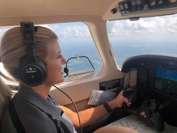 Learning To Fly: Flight Attendant Is MGA's Oldest Female Flight Student